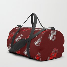 Formula Cars red and white Duffle Bag