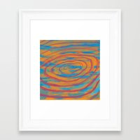 portal 2 Framed Art Prints featuring Distorted Portal 2 by MH Design