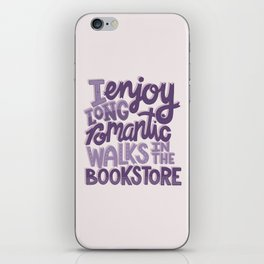 Book Nerd - Romantic Bookstore Purple iPhone Skin