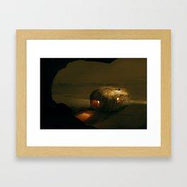 Post Apocalyptic Airstream (Camo) Framed Art Print