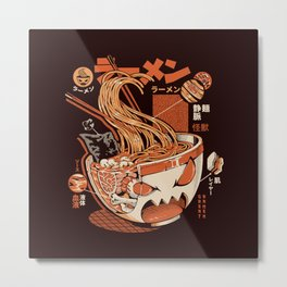 Black X-ray Great Ramen! Metal Print