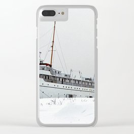 SS Keewatin in Winter White Clear iPhone Case