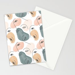 Minimal Figurative Pattern #society6 #buyart Stationery Cards