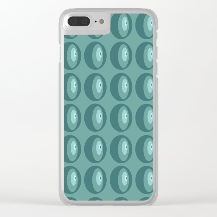 The abstract eye pattern Clear iPhone Case