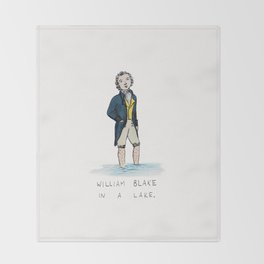 William Blake in a Lake Throw Blanket
