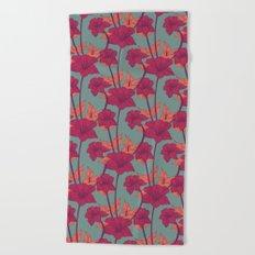 Vintage Blossoms Beach Towel