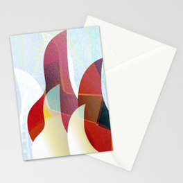 Modern Abstract Focus & Warmth Contemporary Print Stationery Cards