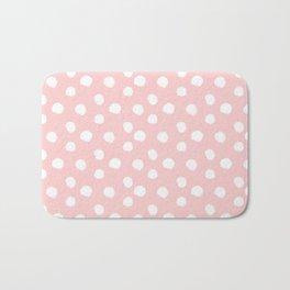 Brushy Dots Pattern - Pink Bath Mat