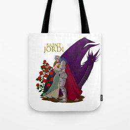 The leyend of Saint Jordi Tote Bag