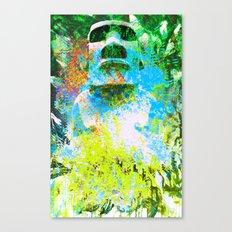 moai in green Canvas Print