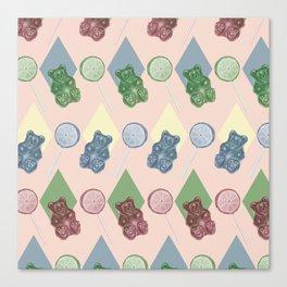 Lollipop pattern Canvas Print