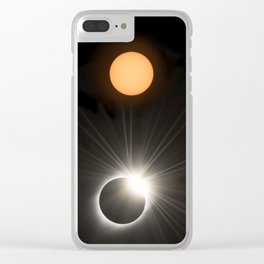 Solar Eclipse Clear iPhone Case
