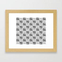 PHILA/PENNA Pattern Framed Art Print
