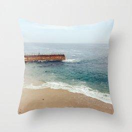 Seal Beach San Diego,California Throw Pillow