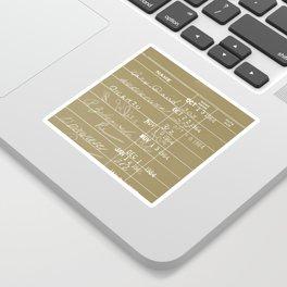 Library Card 23322 Negative Brown Sticker