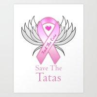 Save The Tatas Art Print