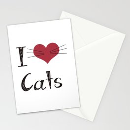 I love cats Stationery Cards