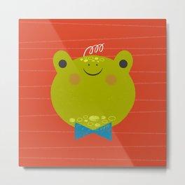 Dressy Froggy Metal Print