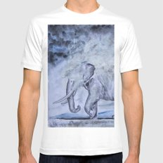 Elephant Mens Fitted Tee MEDIUM White