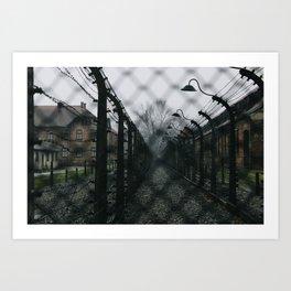 Auschwitz-Birkenau Camp Art Print