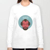 stanley kubrick Long Sleeve T-shirts featuring STANLEY KUBRICK by Gerardo Lisanti