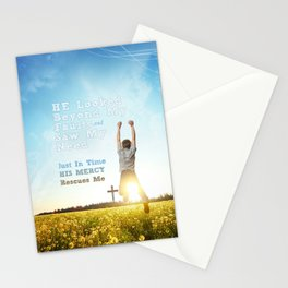 He Looked Beyond My Fault Stationery Cards