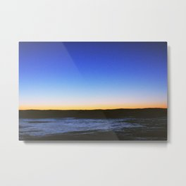 Winter Sunset Lake Metal Print