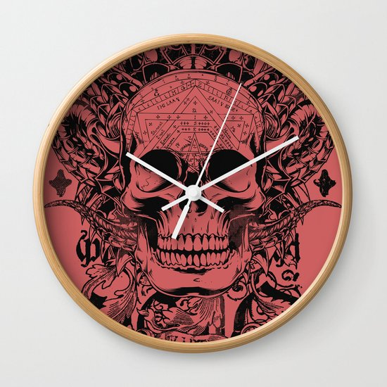 Cobra skull Wall Clock