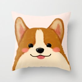 Corgi [blep!] Throw Pillow