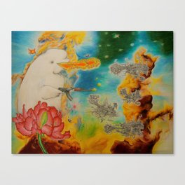 Canute the Goldfish Canvas Print