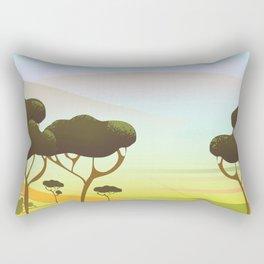 Siracusa Italy travel poster Rectangular Pillow