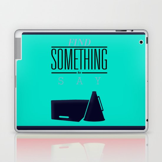 Literary Quote Poster — Title Poster Laptop & iPad Skin