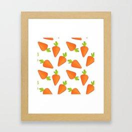 carrot pattern Framed Art Print