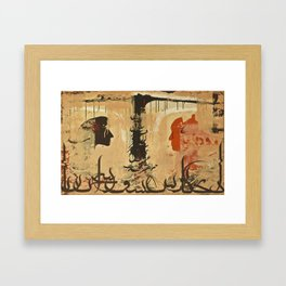 I wish there was a language for love Framed Art Print