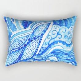 watercolor blue composition Rectangular Pillow