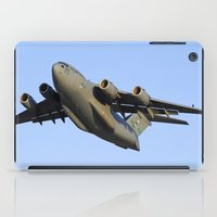 aviation iPad Cases featuring C-17 Globemaster Aviation USAF Take Off by Aviator