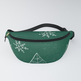 Merry Christmas Green Fanny Pack
