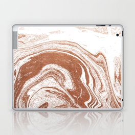Marble copper metallic suminagashi spilled ink japanese marbling abstract ocean swirl Laptop & iPad Skin