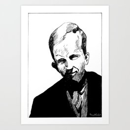 Harold Innis (economic historian, communications scholar) Art Print