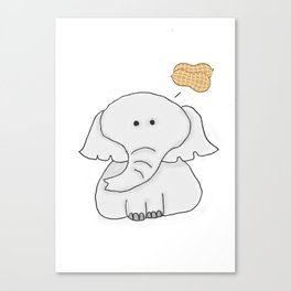 Elephant Wants Peanuts Canvas Print