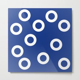 Art Decor Abstract Hole Punch Circles Sticker Metal Print