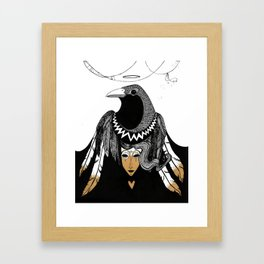 Bird Women 3 Framed Art Print
