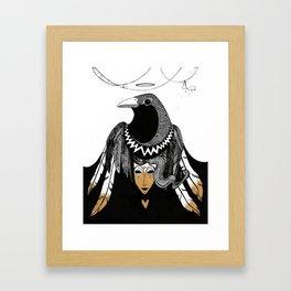 Bird Women 3 Framed Art Print