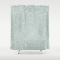 sparkles Shower Curtains featuring Winter Sparkles by Sarah Harris (Lily and Vine Ltd)