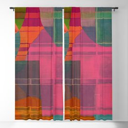 """""""Retro Pop Cubism"""" Blackout Curtain"""