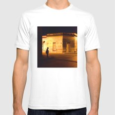 Man in Black SMALL White Mens Fitted Tee