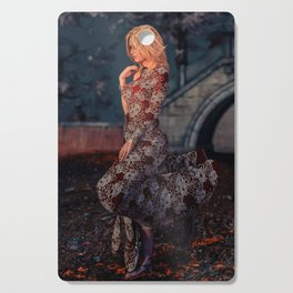 Lady in Red Cutting Board
