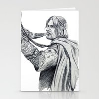 gondor Stationery Cards featuring The Horn of Gondor by Christine Margeson