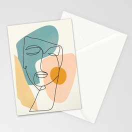 Abstract Face 25 Stationery Cards