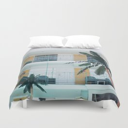 Retro Motel in Wildwood, New Jersey Duvet Cover